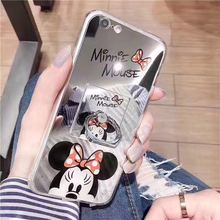 Carton Mickey Minnie Winnie Hello Kitty Mirror Soft TPU Cases For Vivo V5 Case For Vivo Y66 Y67 Mobile Phone Back Covers Capas
