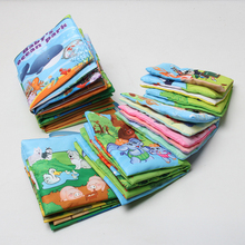 Baby Cloth Book Children Kids Educational Toys Soft Fabric Animals Tails English Learning Quiet Book For Newborn Babies