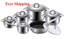 Kaiserhoff Cooking Tools 12 Piece Of Stainless Steel Cookware Set Pots And Pans Frypan Saucepan Cooking Pots Set Panela Cookware
