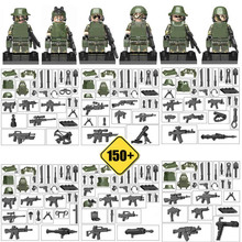 Armed Troop CF Cross Fire Jungle Commandos Camouflage Small Military Army figure Building Block Toy with Weapons Guns