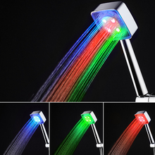 LED Shower Faucet Colorful Gradient or Temperature Control Three Colors Light Anion Air Purification Lamp Bathroom Faucets(China)