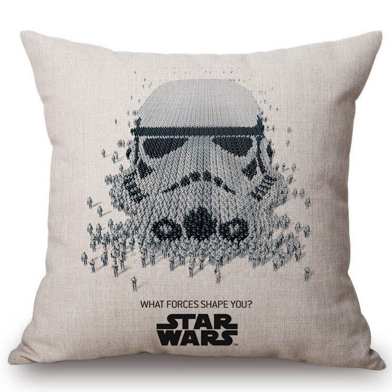 "18/"" Made Australia. STAR WARS Black /& White Cushion Cover 45cm"