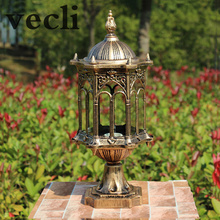 Europe Wall column light outdoor garden pillar lamp retro chapiter lamps WCS-OCL008(China)
