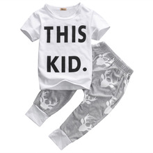 2PCS/Set Baby Boys Clothing Cute Kids Boy Clothes Sets Cotton Casual T-shirt + Print Pants Fashion Outfits Set for Children Boy
