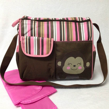30*40*12cm Cute Monkey Print Baby Diaper Bags Large Capacity Mommy Bag For Mom Stroller Bag Diaper Organizer bolsa maternidade