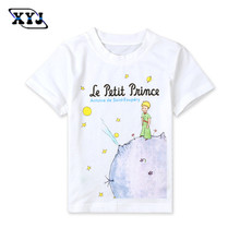 2016 Summer Clothes For Bebe Girls Boys The Little Prince t-Shirt White Shirt Printed Tees Clothing Sport Tops Team Shirt