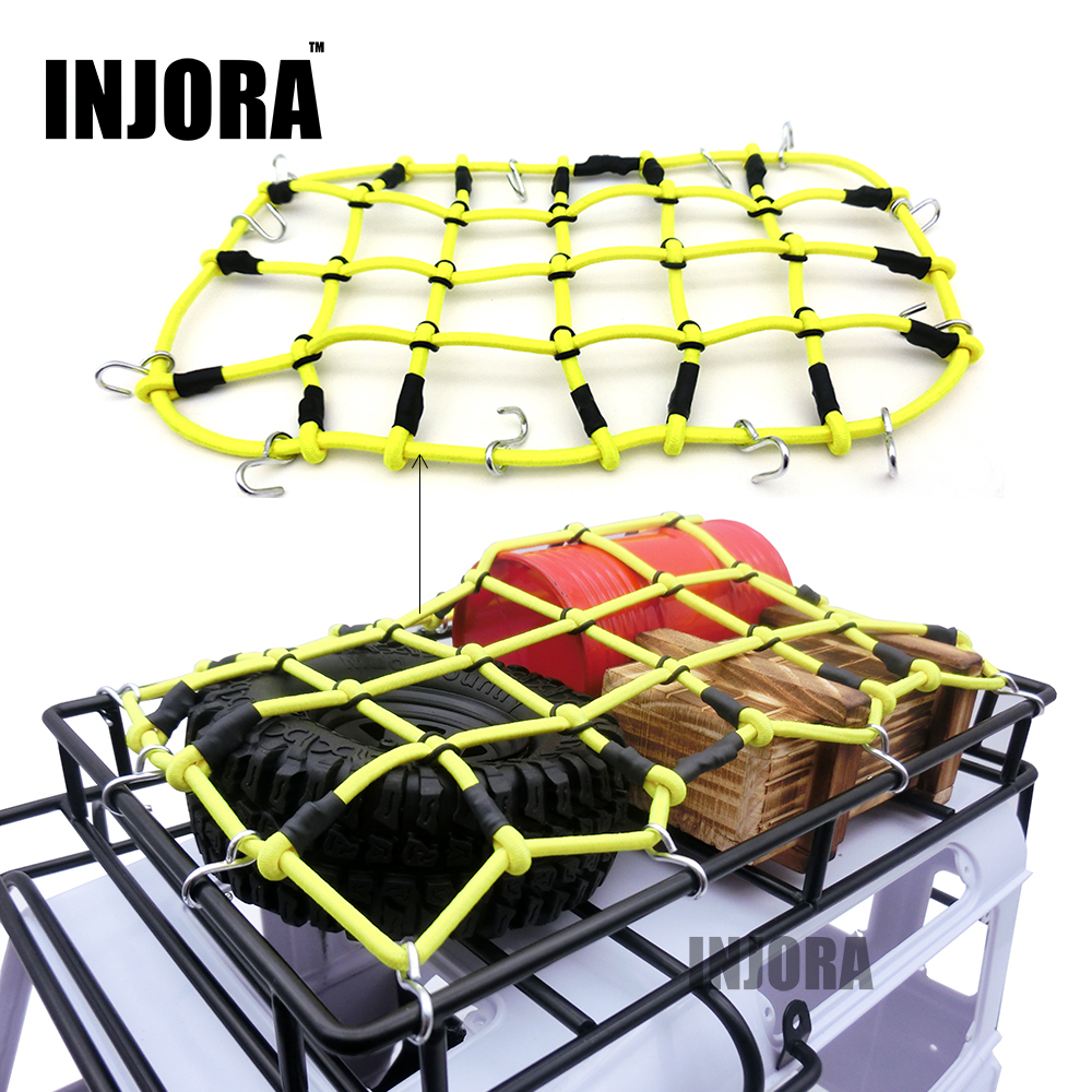 1:10 RC Rock Crawler Elastic Luggage Net with Hook for Axial SCX10 90046 Tamiya CC01 RC4WD D90 D110 RC Car Truck Accessories<br><br>Aliexpress