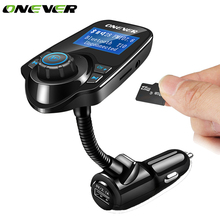 Onever Bluetooth FM Transmitter Auto Car MP3 Audio Player Wireless FM Modulator Handsfree LCD Display Car Kit with USB Charger(China)