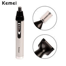 Kemei 3-in-1 Rechargeable Electric Nose Ear Trimmer Cutter Shaver Cleaner Hair Remover Eyebrow Shaping Device for Man and Woman