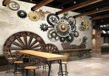 beibehang Custom photo wallpaper mural wall stickers Europe and the United States retro mechanical gear bar KTV backdrop