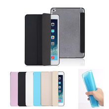 Ultra Slim Tablet Case for iPad mini 4 Smart PU Leather Sleeve for iPad mini 2 1 mini 3 Case Fold Bracket TPU Back Cover Case(China)