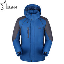 2017 Winter Brand Men Down Jacket Plus Size 4XL Hood With Cashmere Winter 100% Cotton Jacket Quality Fashion Men's Coat WQ9903