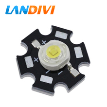 led diode 3w 1w cool white 7000-15000K with PCB board high power led chip aluminum plate base heat sink Board emitting diode