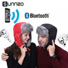 Christmas Gift Winter MP3 Music Bluetooth Hat for Women Men Lover Hunting Cap Russian Hats+Windproof Facemask for Iphone 7 8 X