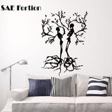 SAE Fortion Halloween Skull Love Tree Stickers Punk Death Decal Halloween Devil Poster Name Car Window Art Wall Decals Parede(China)