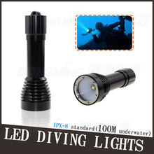 High Bright 2000LM Underwater CREE XM-L T6 led Diving underwater Flashlight Torch torchlight Waterproof led Light, Free Shipping(China)