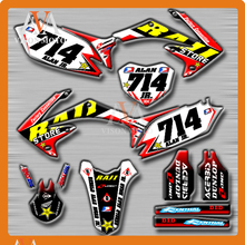 Customized Team Graphics & Backgrounds Decals 3M Stickers For HONDA CRF450R CRF450 R 2009 2010 2011 2012 09 10 11-12