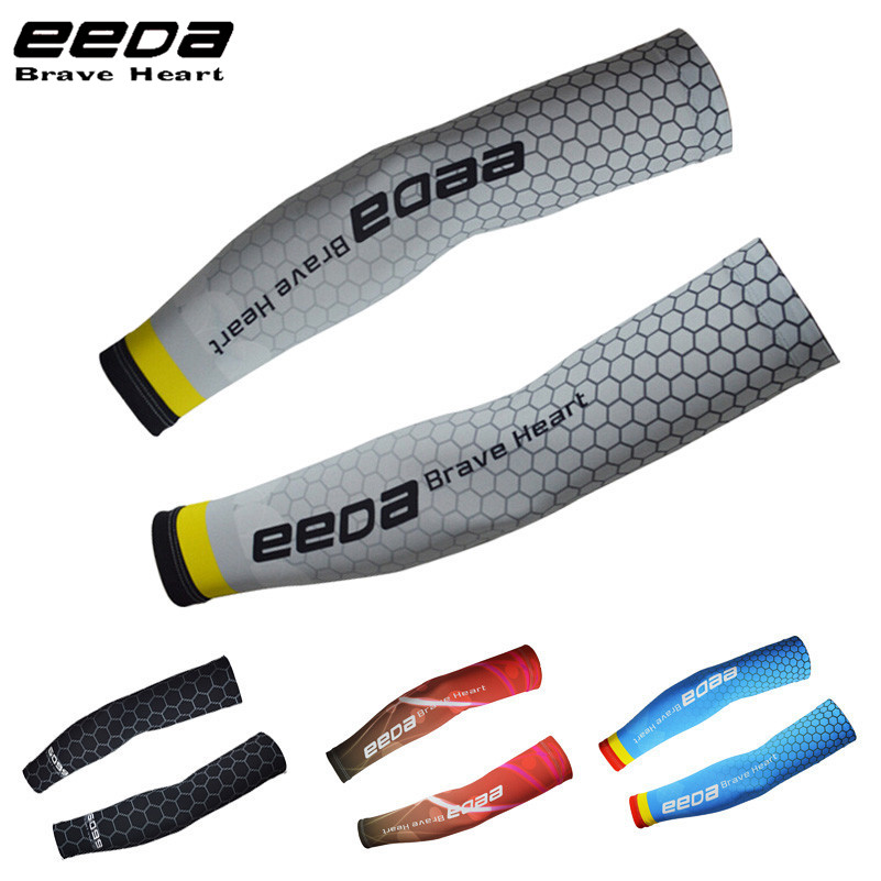 EEDA Cooling Arm Sleeves Sun Protective UV Cover 1 Pair Cycling Arm Warmers MTB Breathable Wicking Mountain Bike Armsleeve(China)