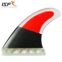 Hot Sale Half CarbonFiber Honeycomb Future Insurfin Red Surfboard Set Fins (3) Size G5(China)
