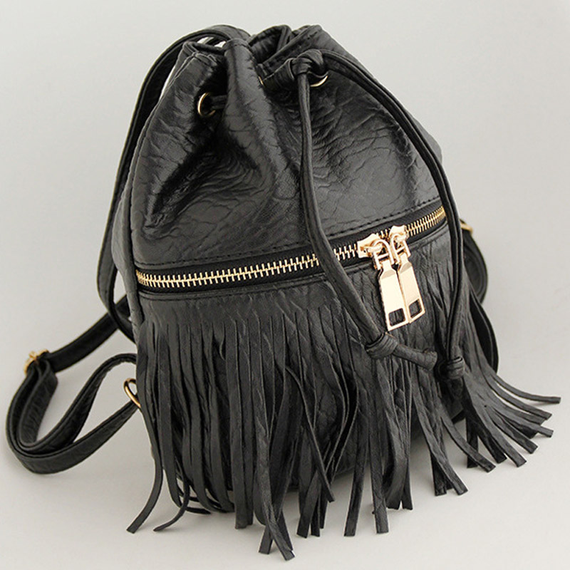 2017 Women Handbags PU Bucket Bag Drawstring Bags Women purse Messenger Bag zipper Shoulder Crossbody Bag feminina bolsas Clutch<br><br>Aliexpress