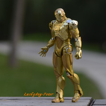Action Figure Toys Iron Man 1/7 scale painted figure Golden Iron Man3 figure Garage Kits Dolls Brinquedos Anime