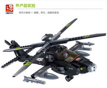 Candice guo plastic toy building block assemble game birthday gift AH-64 Apache model helicopter airplane christmas present 1pc