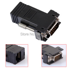 High Quality VGA Extender Female/Male to Lan Cat5 Cat5e/6 RJ45 Ethernet Female Adapter Requires No External Power FW1S(China)