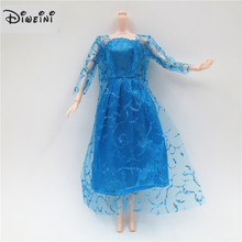 2 PCS/Set Lace Dress Fashion Handmade Clothes Suit for Barbie Doll Outfit girls Accessories Clothes 30cm Barbie doll Dress