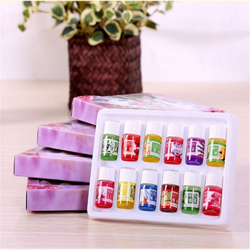 Dimollaure 12 Kinds of Fragrance Essential Oil Pack for DIY Aromatherapy Humidifier Fragrance lamp Purifying air Jasmine Oil 13