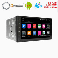 "car dvd player 2 din android 6.0 4G LTE 7"" universal Multimedia Player Ownice C500 2G RAM 4 Core car video player 1024*600"