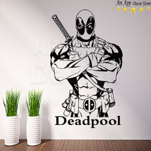 Good quality deadpool house decor new Art Design Vinyl marvel Wall decals removable home decoration Weapon X room sticker