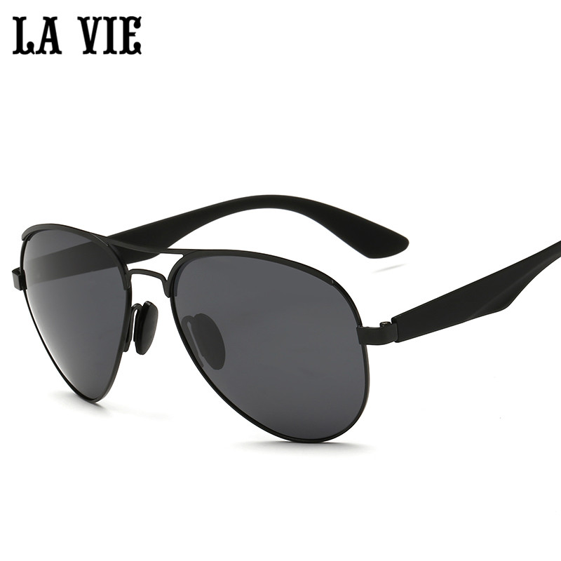 LA VIE Polarized Pilot Style Men Sunglasses Fashion Alloy Frame Design Plastic Leg Male Coating Sun Glasses LVA3523<br><br>Aliexpress