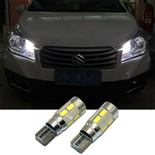 2 X T10 LED W5W Car LED Auto Lamp 12V Clearance Parking Light bulbs with Projector Lens for suzuki grand vitara swift sx4