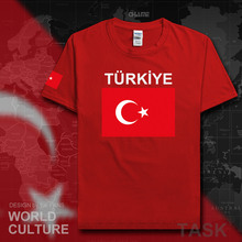 Turkey t shirt man socceres jerseys 2017 t-shirts nations team 100% cotton sportes meetings fans TR Turkish flags Turk fitness(China)