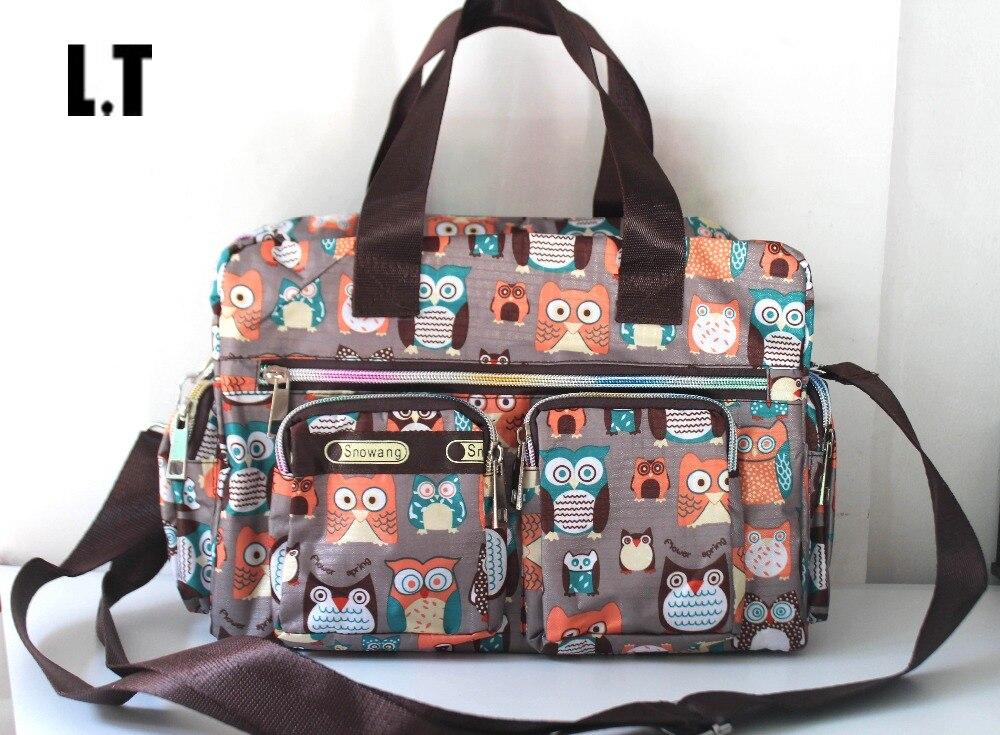 2017 Lady Nylon Waterproof Owl Mult Pockets Bag Animal Diaper Travel Teacher Weekend Overnight Organizer Crossbody Bag For Women<br><br>Aliexpress