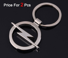2Pcs/Lot Car Opel Logo Hollow Out Keyring Key Rings Chain Pendant Holder Keychain For Automobile Badge Brands Emblem Marks(China)