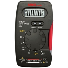 AIMO M320 Mini Pocket Handheld LCD Digital Multimeter DMM Frequency Capacitance Measurement with Data Hold Auto Range Multimetro