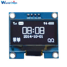 "1.3 Inch 1.3"" White OLED LCD 4PIN Display Module IIC I2C Interface 128x64 for Arduino(China)"
