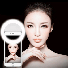 PINWEI Selfie Portable Flash Led Camera Phone Photography Ring Light Enhancing Photography for iPhone Smartphone Pink White