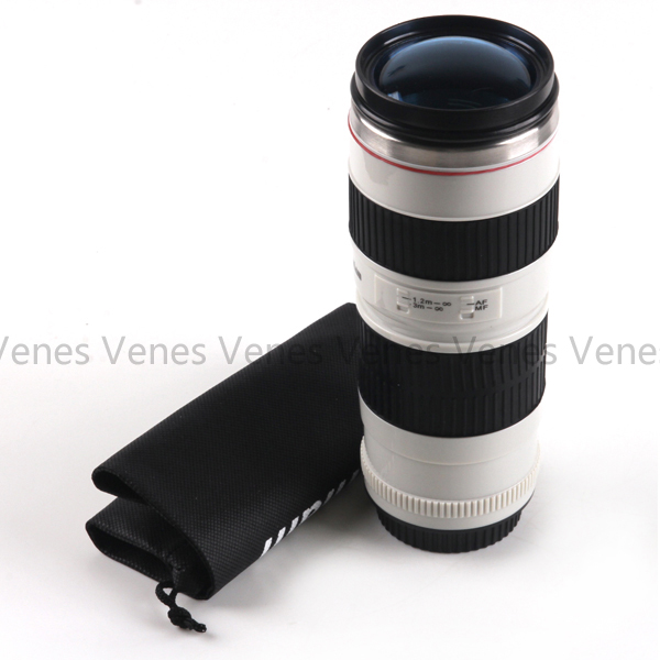 Neww!!! C.anon Style 70-200mm 1:1 Replica Mug Coffee Lens Thermos Drinking Cup Color Blue