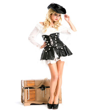 Halloween Costume Pirate Woman Cosplay Clothing Party Role-playing Clothes Stage Costume Temptation Uniforms pirate costume  LB