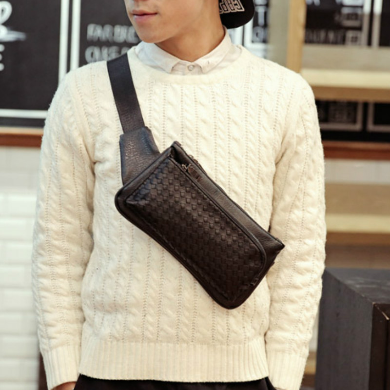 Tidog Korean new mens chest pack trend of hand woven bag chest bag<br><br>Aliexpress