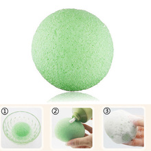 Natural Konjac Shape Facial Cosmetic Puff Soft Face Wash Moisturizing Cleansing Sponge Makeup Beauty Face Wash Tools Green