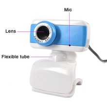 Digital USB 50M Mega Pixel Webcam Stylish Rotate Camera HD Web Cam With Mic Microphone Clip for PC Laptop Notebook Computer New