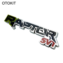 OTOKIT Cool 3D Metal Alloy RAPTOR SVT Vehicle Logo Car Sticker Sports Styling for Ford Focus Kuga SUV Mustang F150 Ranger Galaxy