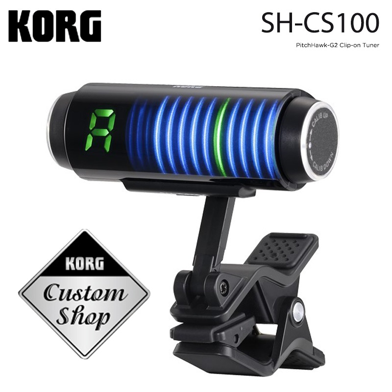 KORG Sledgehammer 3D Screen SH-CS100 Guitar Tuner Clip-on<br>