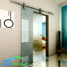 6.6FT barn glass sliding doors hardware(China)