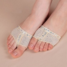 Hot Sale Comfort Diamond Foot Thong Toe Undies Dance Paws Half Lyrical Ballet Shoe Forefoot Cover(China)