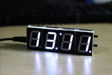 1PCS White Digital LED Electronic Microcontroller Clock Screen Display time NEW(China)