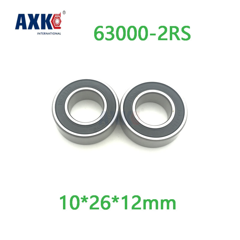 Axk Excavator Bearing 63000 2rs 63000-2rs 10x26x12mm 10*26*12mm Double Shielded Deep Ball Bearings Large Breadth<br>